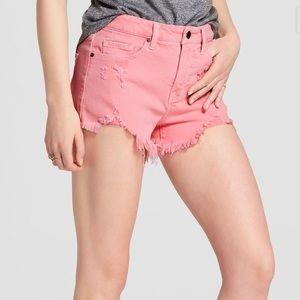 🆕😍 High rise pink denim shorts